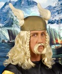 Viking pruik blond